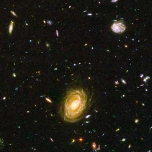 Galaxy HUDF-JD2 From the Hubble Ultra Deep Field. Source: Hubblesite.org
